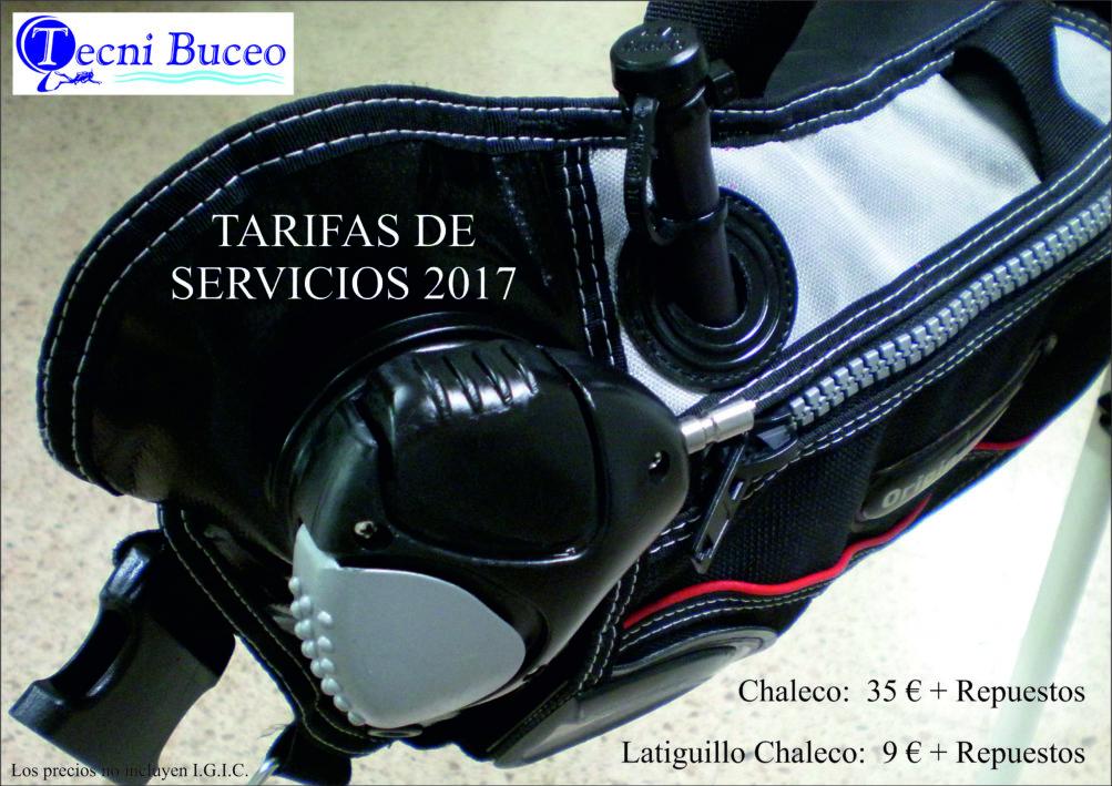 5 Tarifas CHALECOS TECNI BUCEO 2017